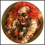 The Clown Also Cries Collector Plate by Don Ruffin