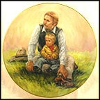 Papa's Boy Collector Plate by Vel Miller MAIN