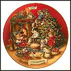 Sharing Christmas With Friends Collector Plate