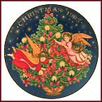 Trimming The Tree Collector Plate by Peggy L. Toole