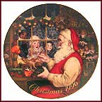 Santa's Loving Touch Collector Plate MAIN
