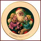 Santa's Tender Moment Collector Plate by Robert Sauber
