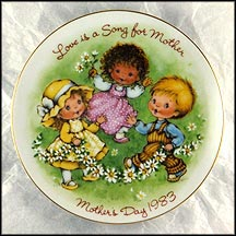 Love Is A Song For Mother Collector Plate