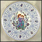 Blue Trellis Collector Plate by Edna Hibel