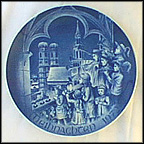 Christmas In Munich Collector Plate by Hans Mueller