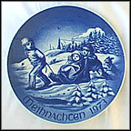 Christmas Sleigh Ride Collector Plate by Hans Mueller
