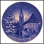 Zeil On The River Main Collector Plate by Hans Mueller