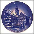 Marketplace In Forchheim Collector Plate by Hans Mueller