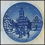 Marketplace In Heppenheim Collector Plate by Hans Mueller