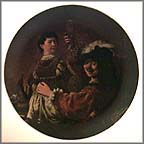Self Portrait With Saskia Collector Plate by Rembrandt MAIN