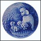 Grey Poodles Collector Plate