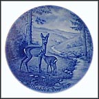 Doe And Her Fawn Collector Plate