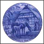 Mare With Foal Collector Plate