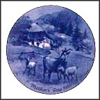 Goat Family Collector Plate