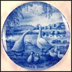 Goose Family Collector Plate
