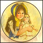 Lisa And The Jumeau Doll - artist signed Collector Plate by Jan Hagara