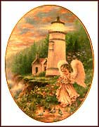 A Little Love Lights The Heart Collector Plate by Dona Gelsinger MAIN