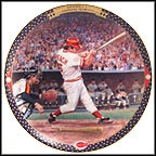 Johnny Bench: The Final Home Run Collector Plate by Cliff Spohn
