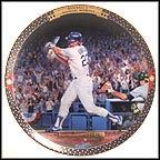 Kirk Gibson: 1988 World Series Collector Plate by Cliff Spohn
