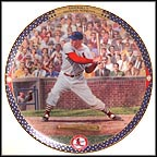 Stan Musial: 3000th Hit Collector Plate by Cliff Spohn