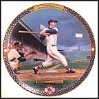 Ted Williams: Last Time At Bat Collector Plate by Cliff Spohn