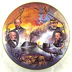 The Monitor and The Merrimac Collector Plate by James Griffin MAIN