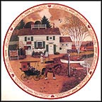 Capturing The Moment At Birch Point Cove Collector Plate by Charles Wysocki MAIN