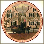 A Farewell Kiss For Mrs. Jacob Amherst Dove Collector Plate by Charles Wysocki