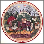 Small Talk At Birdie's Perch Collector Plate by Charles Wysocki
