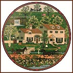Gingernut Valley Inn Collector Plate by Charles Wysocki