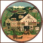 Peppercricket Farms Collector Plate by Charles Wysocki
