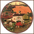 The Pumpkin Hollow Emporium Collector Plate by Charles Wysocki