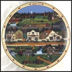 April - Yankee Wink Hollow Collector Plate by Charles Wysocki