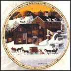 February - Page's Bake Shoppe Collector Plate by Charles Wysocki