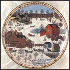 January - Fox Run Collector Plate by Charles Wysocki