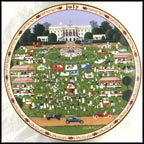 July - The White House 4th of July Picnic Collector Plate by Charles Wysocki