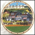 June - Prairie Wind Flowers Collector Plate by Charles Wysocki