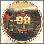 November - Fireside Companions Collector Plate by Charles Wysocki