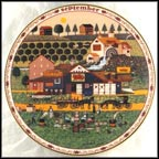 September - Apple Butter Makers Collector Plate by Charles Wysocki