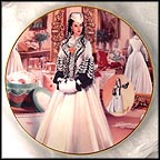 The Black And White Bengaline Dress Collector Plate by Douglas C. Klauba