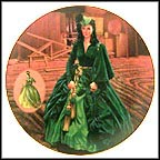 The Green Drapery Dress Collector Plate by Douglas C. Klauba