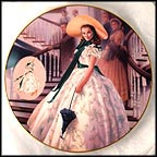 The Green Sprigged Dress Collector Plate by Douglas C. Klauba