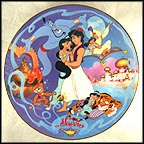 Aladdin's Magical New World Collector Plate by Disney Studio Artists