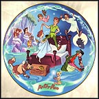 Flight To Neverland Collector Plate by Disney Studio Artists