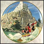 Matterhorn Collector Plate by Disney Studio Artists
