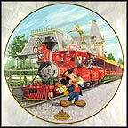 Disneyland Railroad Collector Plate by Disney Studio Artists