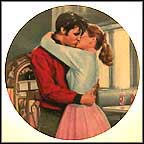 Kissing Elvis Collector Plate by Bruce Emmett
