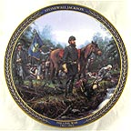 Stonewall Jackson Collector Plate by John Paul Strain MAIN