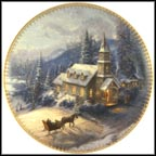 Sunday Evening Sleigh Ride Collector Plate by Thomas Kinkade