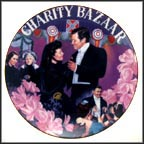 The Charity Bazaar Collector Plate by Aleta Jenks